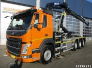 Volvo FM 420 8x2 Euro 6 with HMF 21 t/m + Welwaarts kraanweeginstallat Container cu role